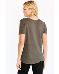 Truly Madly Deeply - Gray Cindy Scoop Tee - Lyst