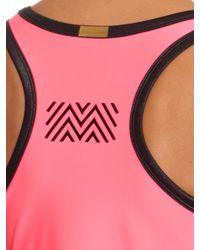Monreal London | Pink Contrast-edging Performance Tank Top | Lyst