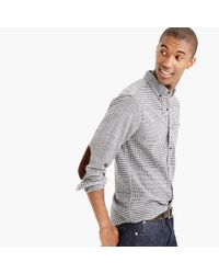 J.Crew | Gray Tall Cotton-wool Elbow-patch Shirt In Glen Plaid for Men | Lyst