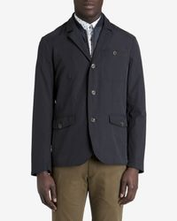Ted Baker - Blue Layered Cotton Jacket for Men - Lyst