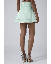 TOPSHOP - Green Limited Edition Mint Satin A-Line Skirt - Lyst
