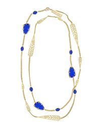 Kendra Scott | Blue Marla Long Necklace Cobalt | Lyst