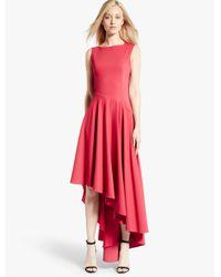 Halston - Embroidered Asymmetric Dress - Lyst