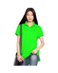 Polo Ralph Lauren - Green Boyfriend Polo Shirt - Lyst