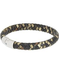 Tateossian | Leather Cobra Clasp Bracelet, Men's, Brown | Lyst