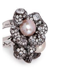 Anabela Chan | Pink 'blossom Pearl' Diamond Pavé 18k Black Gold Ring | Lyst