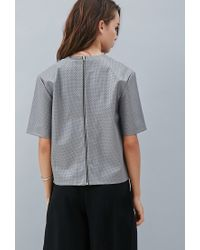 Forever 21 - Gray Private Archives Perforated Faux Leather Top - Lyst