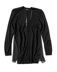 Miscellaneous - Black Sheer Back Cardigan - Lyst
