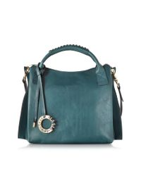 Francesco Biasia | Green Gardenia Genuine Leather Handbag | Lyst