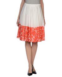 Blumarine - White Knee Length Skirt - Lyst