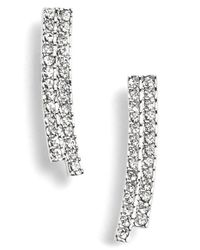 Nadri - Metallic Curve Small Linear Earrings - Lyst
