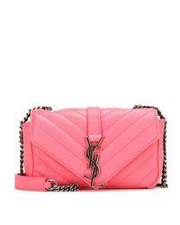 Saint Laurent - Pink Classic Monogram Baby Shoulder Bag - Lyst