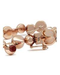 Eddie Borgo - Pink Rose Gold Plated Cone Bracelet - Lyst