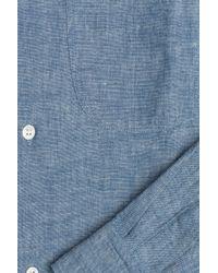 A.P.C. - Cotton Button-down - Blue for Men - Lyst
