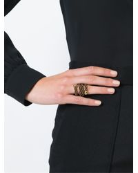 Lanvin | Metallic Woven Ring | Lyst