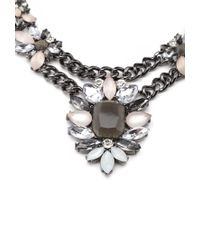 Forever 21 - Metallic Faux Gemstone Flower Necklace - Lyst