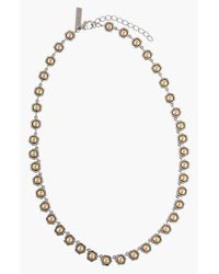 Rachel Zoe | Metallic 'mia' Station Necklace | Lyst
