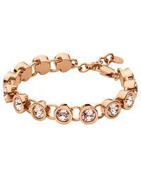 Dyrberg/Kern | Pink Dyrberg/kern Innis Swarovski Crystal Bracelet | Lyst