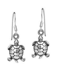 Aeravida | Metallic Serene Spirit Sea Turtle Sterling Silver Dangle Earrings | Lyst