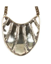 Anndra Neen | Metallic Streak Bib Necklace | Lyst
