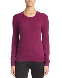 Lord & Taylor | Purple Petite Basic Crew Neck Cashmere Sweater | Lyst