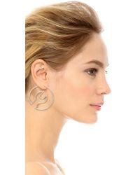 Moschino - Metallic Wrench Hoop Earrings - Lyst