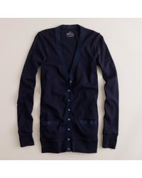 J.Crew - Blue Perfect-Fit Mixed-Tape Cardigan - Lyst
