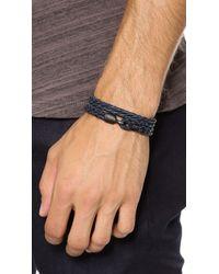 Miansai - Blue Woven Wrap Bracelet with Noir Hook for Men - Lyst