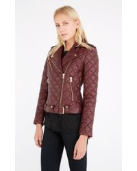 IRO | Red Keroa Quilted-Leather Jacket  | Lyst