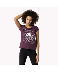 Tommy Hilfiger | Purple Reyna T-shirt | Lyst