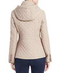 Gallery | Natural Quilted Snap-front Jacket | Lyst