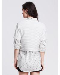 Banana Republic   White Ottoman-stripe Cropped Pullover   Lyst
