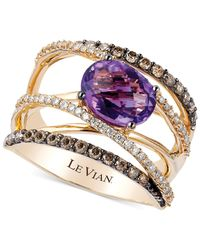Le Vian | Metallic Amethyst (1-3/8 Ct. T.w.)and Diamond (3/4 Ct. T.w.) Crossover Ring In 14k Gold | Lyst