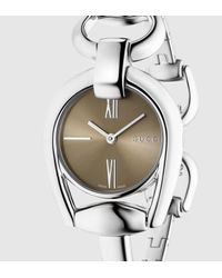 Gucci - Gray Horsebit Bracelet Stainless Steel Watch for Men - Lyst