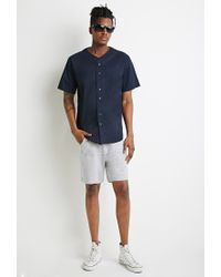 Forever 21 - Blue Cotton Baseball Shirt for Men - Lyst