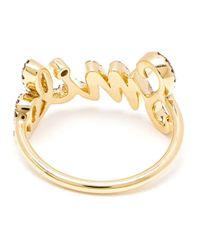 Rosa De La Cruz | Metallic Smile Diamond Ring | Lyst