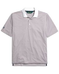 Brooks Brothers | Gray St Andrews Links Fine Stripe Polo Shirt for Men | Lyst