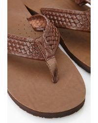 Forever 21 | Brown Basket Woven Flip Flops for Men | Lyst