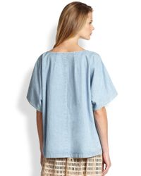 Rachel Comey | Blue Oversized Denim Top | Lyst