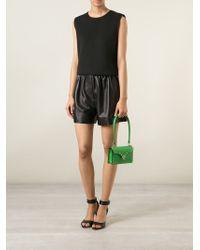 Valentino - Green 'Rockstud' Shoulder Bag - Lyst