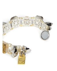 Assad Mounser - Metallic Crystal Stone Bracelet - Lyst