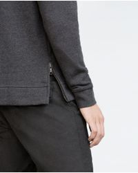 Zara | Gray Contrasting Knit Sweater for Men | Lyst