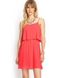 Forever 21 | Pink Contemporary Flouncy Pleated Cami Dress | Lyst