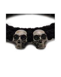 Alexander McQueen   Black Double Braid Bracelet for Men   Lyst