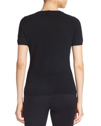 Lord & Taylor - Black Petite Short-sleeve Cashmere Sweater - Lyst