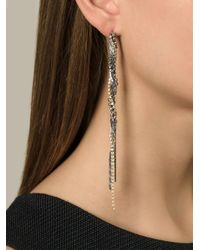 Puro Iosselliani | Metallic Tangled Pendant Earrings | Lyst