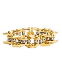Lele Sadoughi | Metallic Mini Stone Satellite Bracelet, Hematite | Lyst