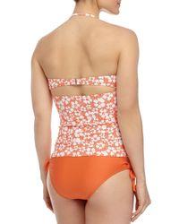 Splendid - Orange Solid Tunnel-Side Swim Bottom - Lyst