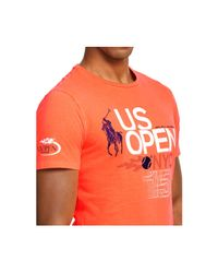 Polo Ralph Lauren | Orange Us Open Custom-fit Neon Graphic T-shirt for Men | Lyst