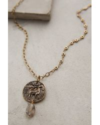 Anthropologie | Metallic Caribou Pendant Necklace | Lyst